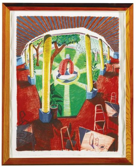 David Hockney-Views Of Hotel Well III-1985