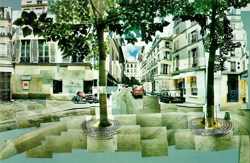 "David Hockney created his ""joiners"" using varying numbers of Polaroid snaps or photolab-prints of a single subject to arrange a patchwork and make a composite image."