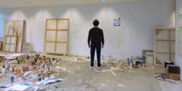David Ostrowski in studio, image courtesy of the artist