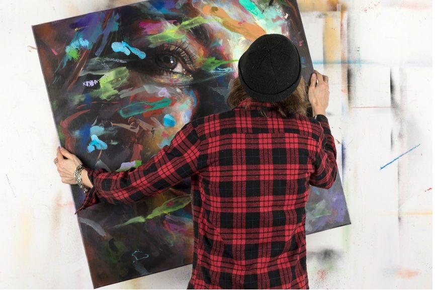 David Walker in his studio