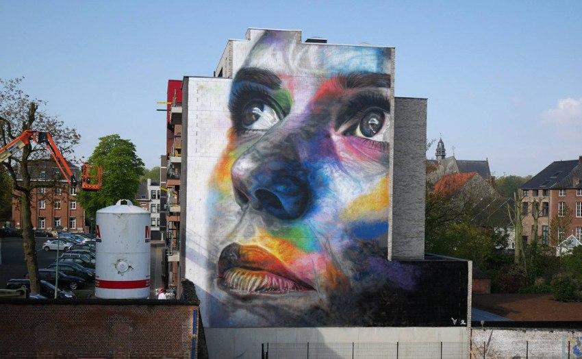 David Walker - mural  for Wild-Brabant project, Belgium, 2016, photo credits of the artist
