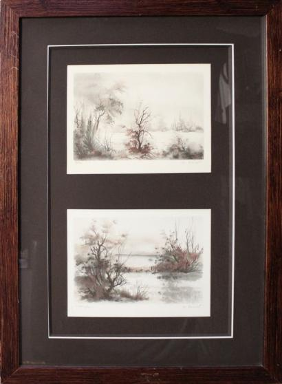 De Bremont - Untitled (Pair of color lithographs)-
