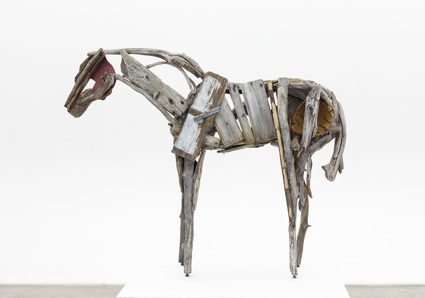 the metaphor of horse sculptures created by deborah butterfield an american artist Sculptures-massive, attached, frontal, unchanged for 2500 years, isolated culture greek art detached, freestanding, ideal, realistic, added motion and contrappasto.