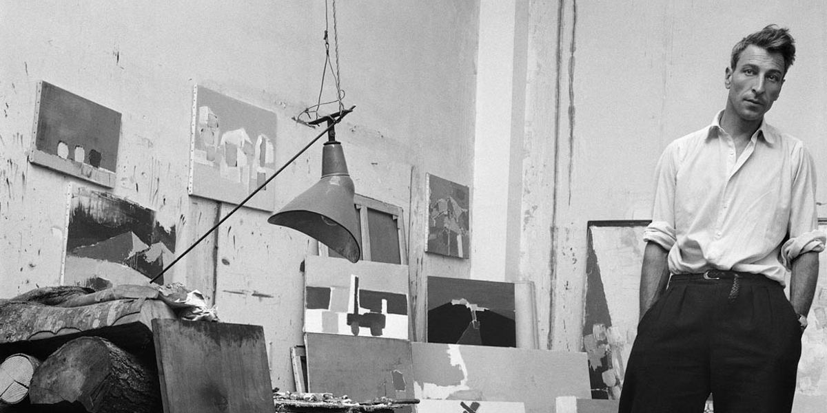 Denise Colomb - Nicolas de Staël in his studio, Gauguet street, Paris (Detail), 1954 - Photo Credits Denise Colomb
