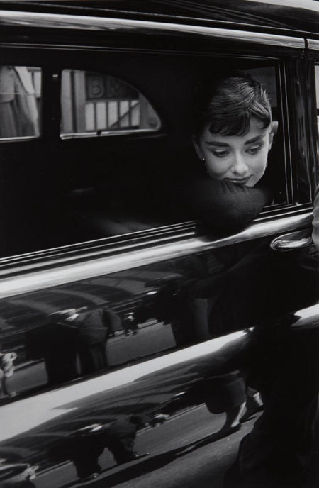 Dennis Stock-Audrey Hepburn during the filming of 'Sabrina' by Billy Wilder-1953