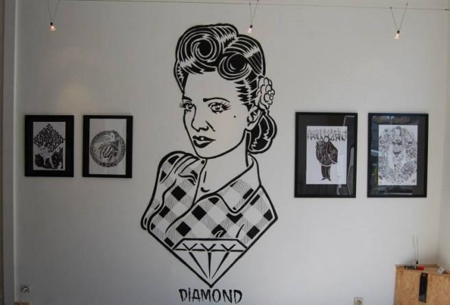Diamond - RomAttitudine solo show, installation view, Aristoi Gallery, 2014, photo credits - artist