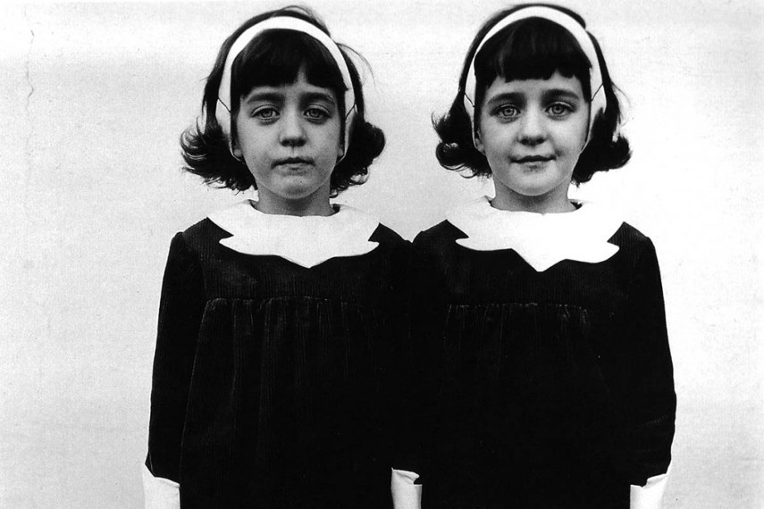 Diane Arbus - Identical Twins, Roselle, New Jersey, 1967 (detail) - Image via woman