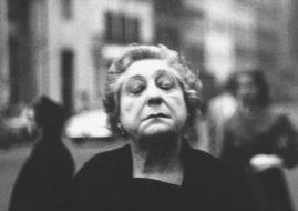 Diane Arbus. Woman on the street with her eyes closed, N.Y.C. 1956.