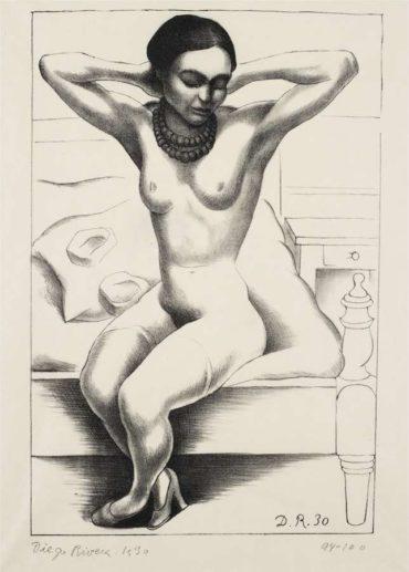 Diego Rivera-Desnudo de Frida Kahlo-1930