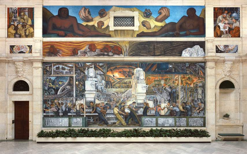 Diego Rivera - Detroit Industry Wall, 1932-33