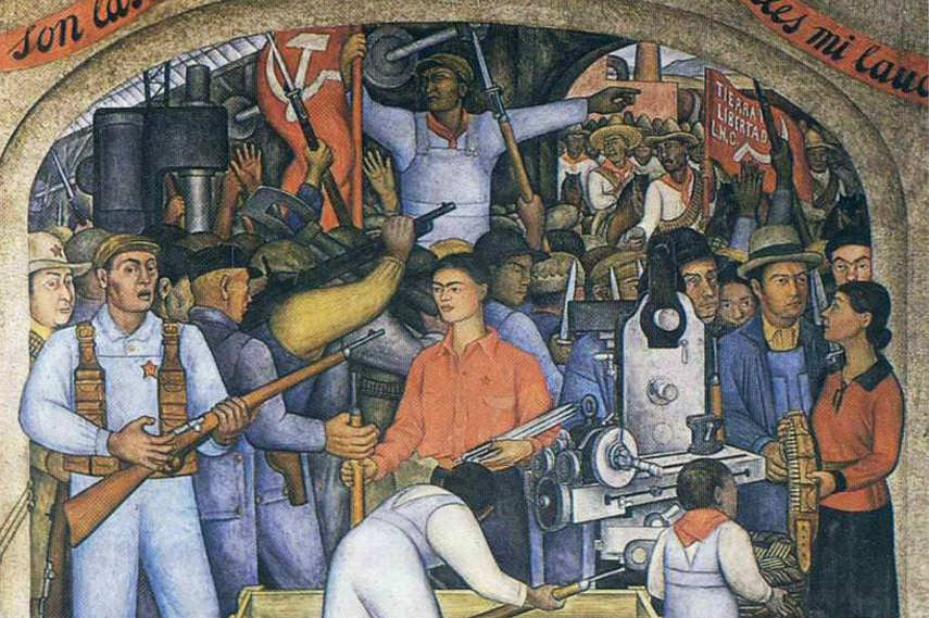 Diego Rivera - In the Arsenal detail - Image via Diegorivera com