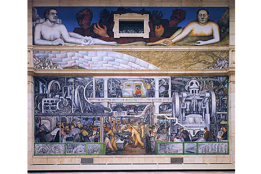 Diego Rivera - Part of the mural at the Detroit Institute of Art 3 - Image via Art com