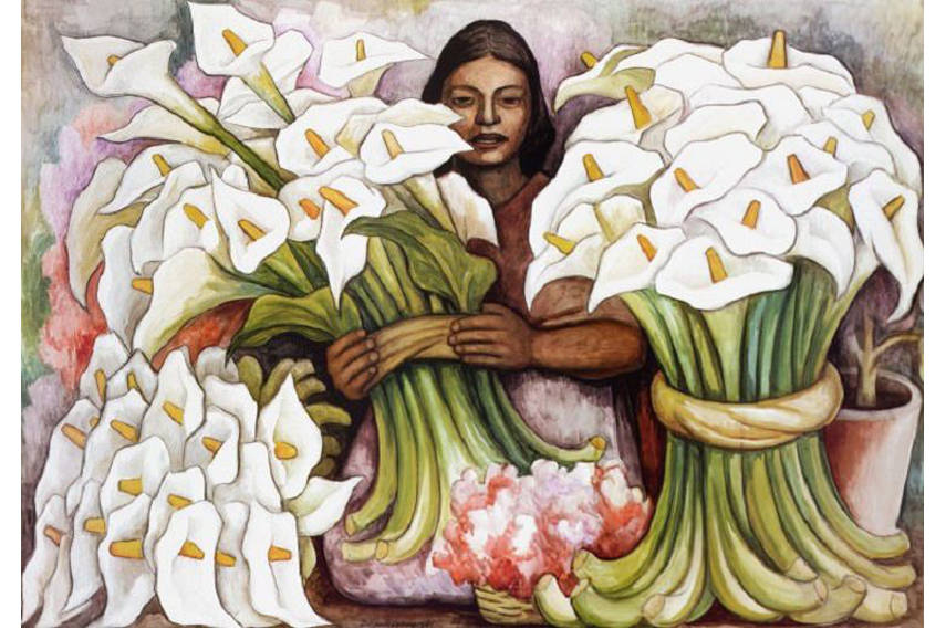 Some of the most expensive diego rivera art sold at for Diego rivera mural paintings