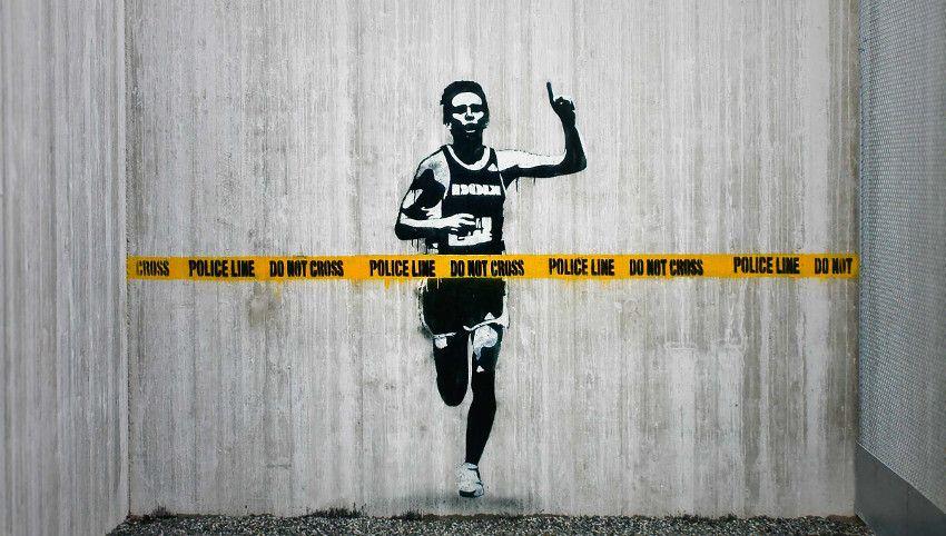 Banksy use sold prisoner home log prints, Norway - 2010, search by Oystein Thorvaldsen