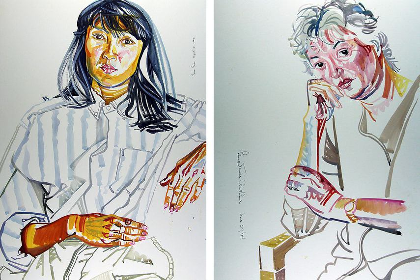 Bachardy was in contact with various Hollywood celebrities and draw them like a common people