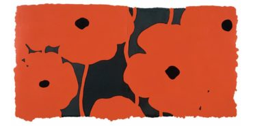 Donald Sultan - Eight Poppies, 2010 - Image source Original prints