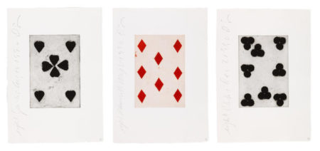 Donald Sultan-Playing Cards Portfolio: Eight of Spades, Diamonds, Clubs-1990