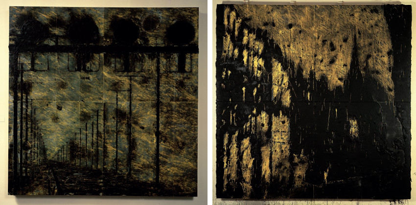 Donald Sultan - Switching Signals, May 29, 1987 (Left) - Double Church, Nov 8, 1990 (Right), 2012, best, modern