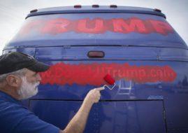 Donald Trump Campaign Bus Art