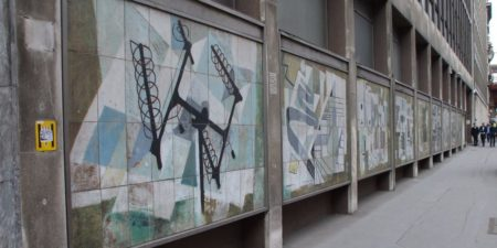 Dorothy Annan - murals - Fleet Building - Farringdon Street City of London