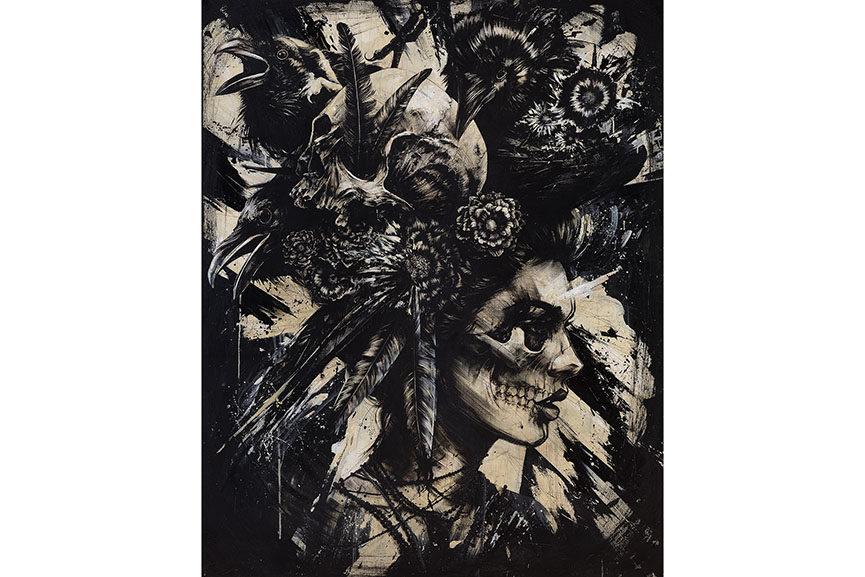 Éric Lacan - La Voisine des oiseaux, 65 x 50 cm