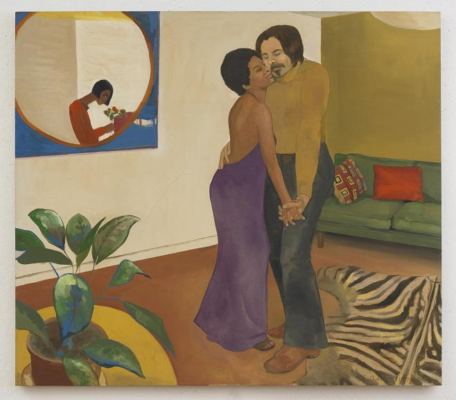 Emma Amos - Sandy and Her african Husband, 1973