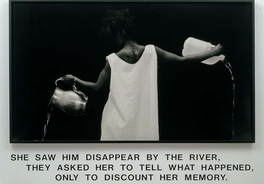 Lorna Simpson - african life Waterbearer work, 1986