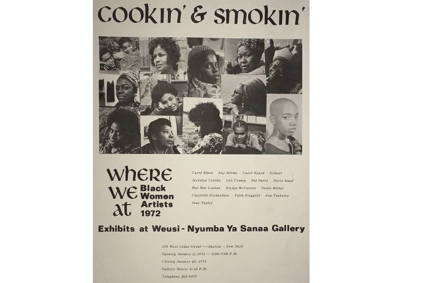 Where We At Collective. Cookin' and Smokin', 1972. Offset printed poster, 14 × 11 in. (35.6 × 27.9 cm). Collection of David Lusenhop. Photo courtesy of Dindga McCannon Archives, Philadelphia, PA. © Dindga McCannon. (Photo: David Lusenhop)