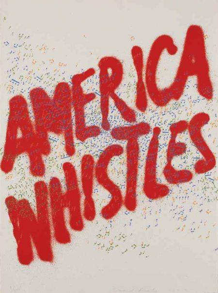 Ed Ruscha-America Whistles, from America: The Third Century-1975