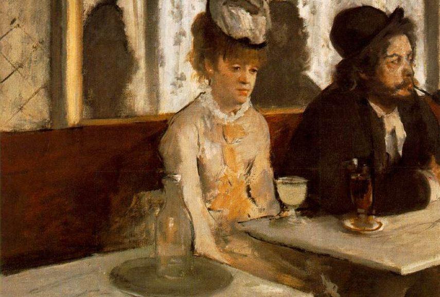 Edgar Degas - L'Absinthe, 1875-6, william powell frith