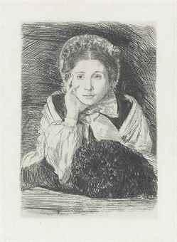 Marguerite Degas, the Artist's Sister (Reed & Shapiro 14 IIa)-1862