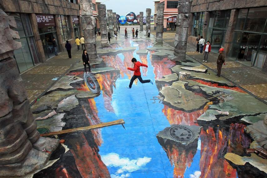 english deutsch chalk select pavement amazing contact paintings people project