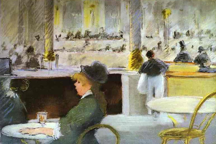 painting edouard paintings paris french monet new woman young folies bar