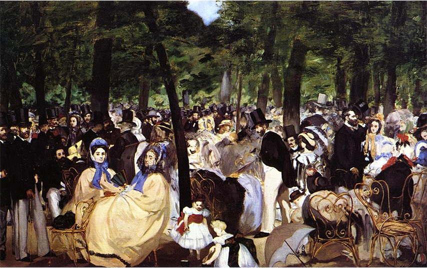Édouard Manet - Music in the Tuileries Garden, 1862 folies bar 1983
