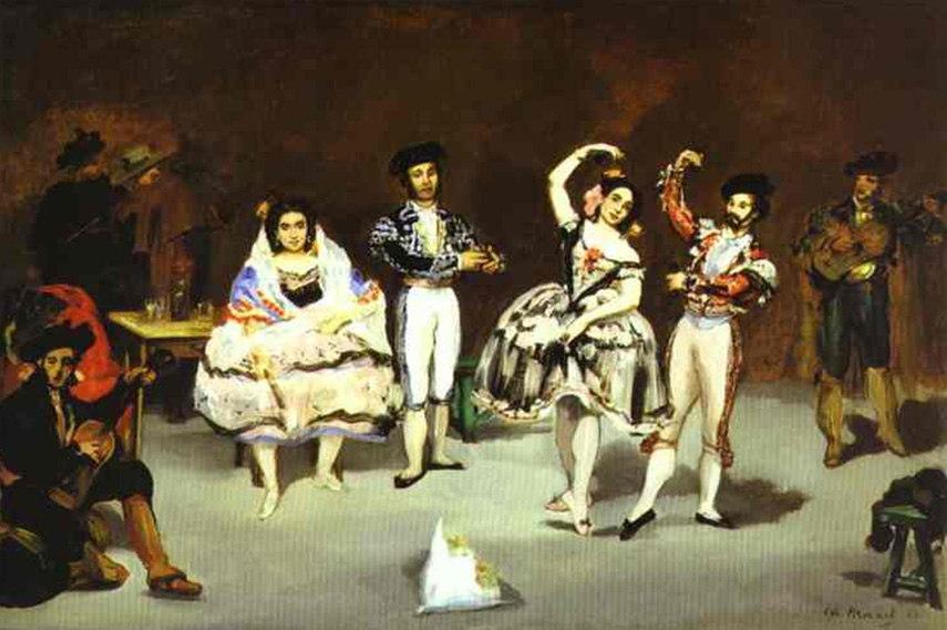 Édouard Manet - The spanish ballet, painted 1862 bar folies
