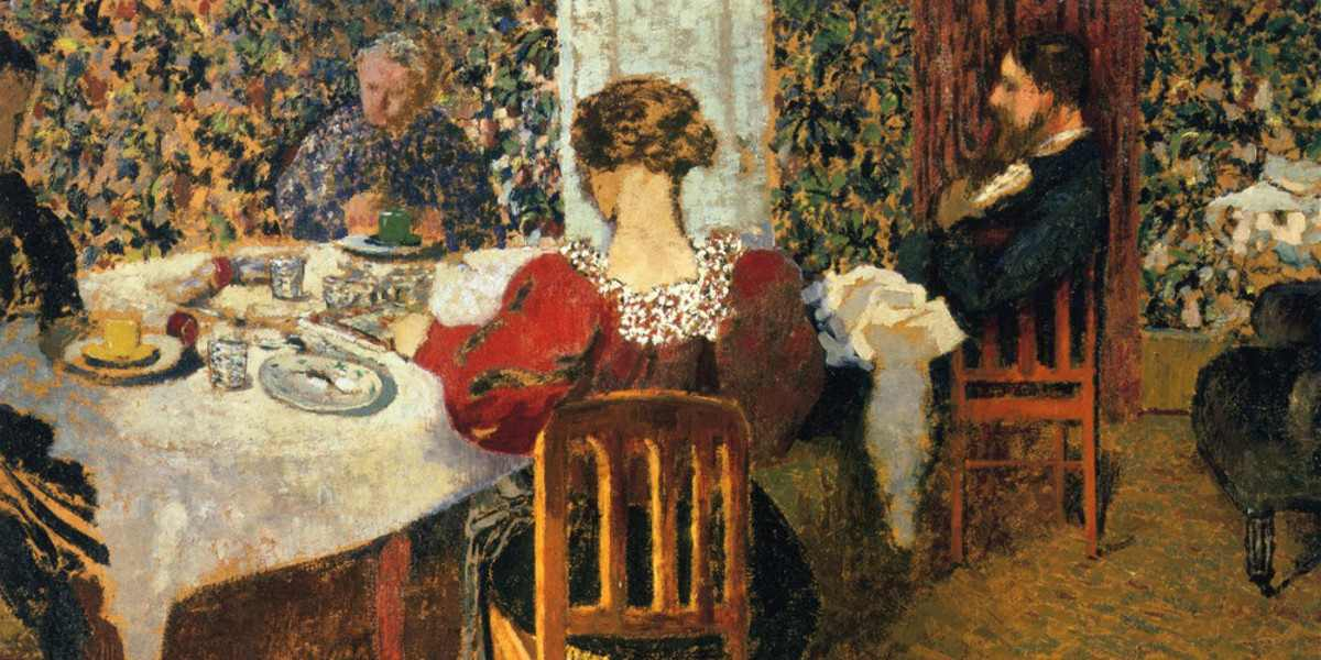 Edouard Vuillard - The End of Breakfast at Madam Vuillard (detail), 1895, photo credits - Wikiart