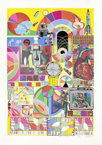 Eduardo Paolozzi-B.A.S.H. (Orange, Pale Pink, Orange)-1971