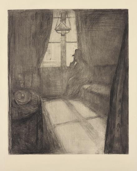 Edvard Munch-Moonlight. Night in St. Cloud-1895