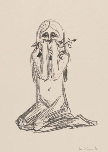 Edvard Munch-Omega Und Die Blume-1909