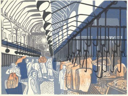 Edward Bawden-Smithfield Market, from Six London Markets, Among the Marsh Arabs-1967