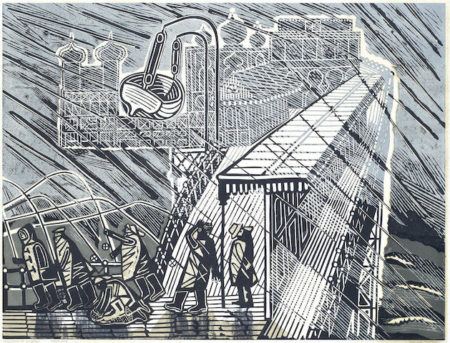 Edward Bawden-Snowstorm at Brighton-1956
