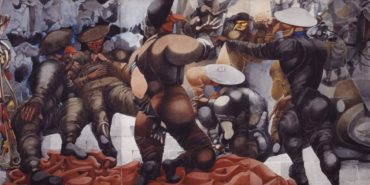 Edward Burra - Soldiers at Rye (detail) - 1941