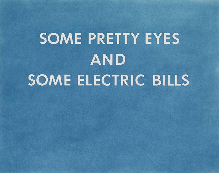 Ed Ruscha - Pretty Eyes, Electric Bills, 1976