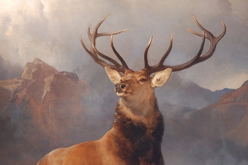 Edwin Landseer – The Monarch of the Glen, 1851, detail