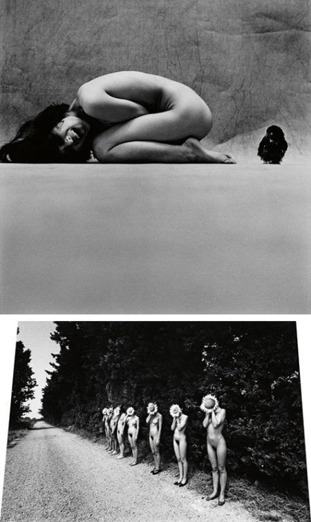 Eikoh Hosoe-Awl and Girl/Sunflower Children, Arles-