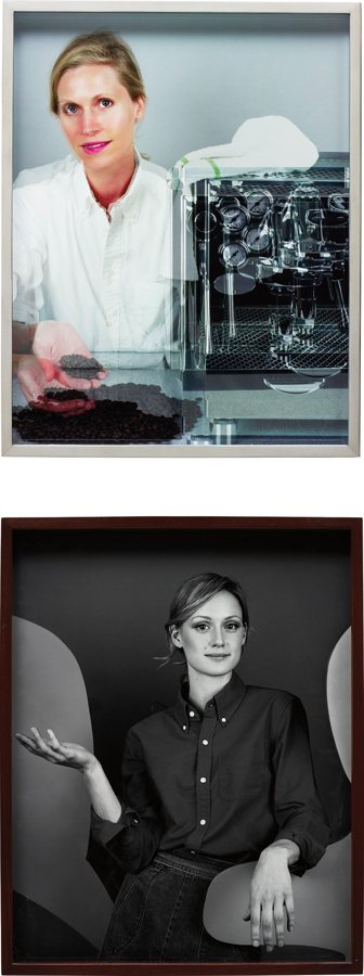 Elad Lassry-Two Works: Woman, Espresso Machine; Girl-2011