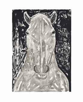Elisabeth Frink-Grey Horse Head-1990