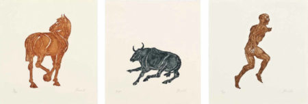 Elisabeth Frink-Horse; Bull; Man-1986