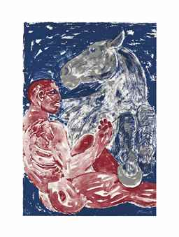 Elisabeth Frink-Man and Horse-1990