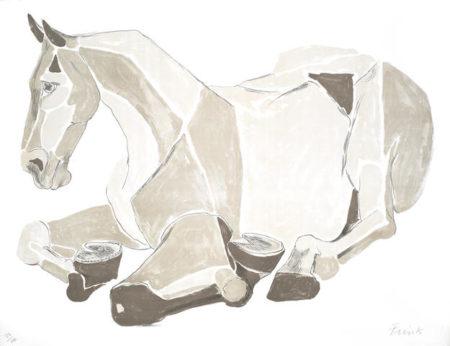 Elisabeth Frink-Resting Horse-1981